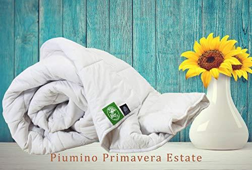 Lana & Co Piumino Comfort Matrimoniale Estate Pura Lana Merino Antifeltrente Cotone Lavabile 40 Gradi Cm.200x255