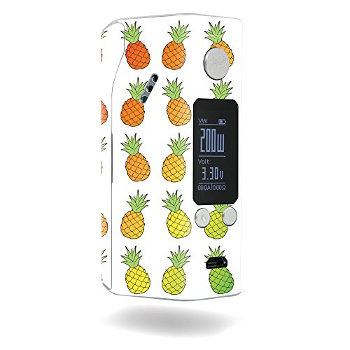 MightySkins Skin Compatible with Wismec Reuleaux RX200S – Rainbow Pineapples   Protective, Durable, and Unique Vinyl Decal wrap Cover   Easy to Apply, Remove, and Change Styles   Made in The USA