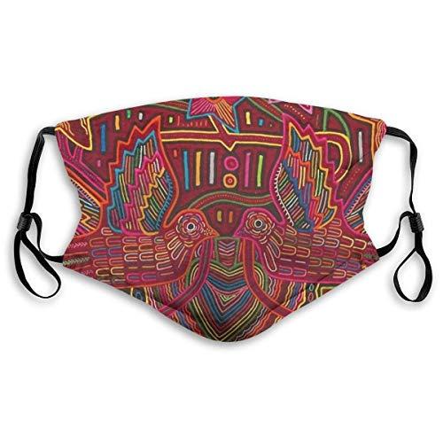 Mola De Panama Fashion Face Cover Sun-Proof Fashion Bandana Headwear For Men and Women