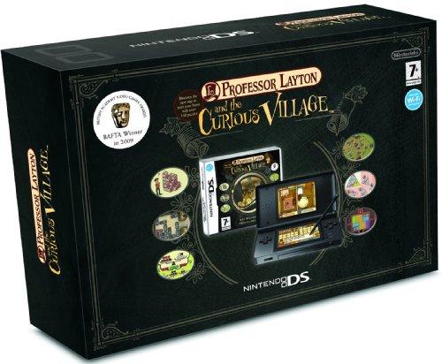 Nintendo DS Lite - Konsole, schwarz inkl. Professor Layton and the Curious Village [UK Import]
