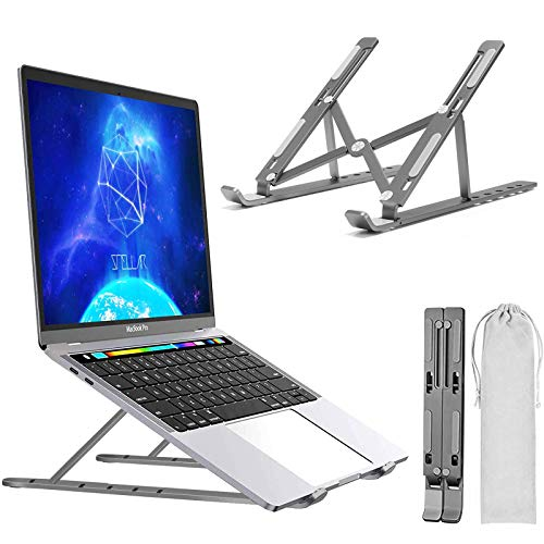 Laptop Stand, Adjustable Portable Laptop Holder,Aluminum Alloy Desktop Mount Compatible with 10-15.6 Inch MacBook PC-Notebook Tablet Thinkpad (Space Gray)