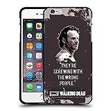Head Case Designs Licenciado Oficialmente AMC The Walking Dead Trampa De Rick Citas Funda de Gel Negro Compatible con Apple iPhone 6 Plus/iPhone 6s Plus