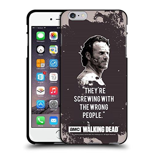 Oficial AMC The Walking Dead Trampa De Rick Citas Funda de Gel Negro Compatible con Apple iPhone 6 Plus/iPhone 6s Plus