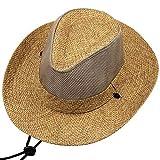 Llsdls Viaje Sombrero para el sol Sombrilla Sombrero para montañismo al aire libre Sombrero de playa Malla de red Sombrero para el sol transpirable Se puede ajustar para facilitar el transporte No ocu
