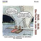 Fische Mini 2020: Sternzeichenkalender-Cartoon - Minikalender im praktischen quadratischen Format 10 x 10 cm.