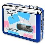 DIGITNOW! USB Convertidor y Reproductor de Cinta casetes ,Convertir Audio Cassette a MP3 Digital ,para Grabar Cassette a mp3 en Windows o Mac(Azul)
