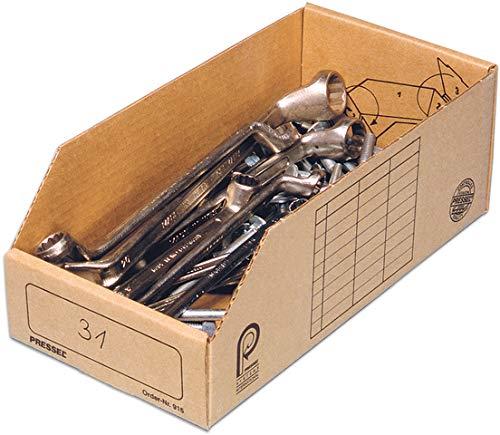Pressel® Aufbewahrungsbox, Wellpappe, 15 x 30,5 x 11 cm, braun (20 Stück), Sie erhalten 1 Packung á 20 Stück