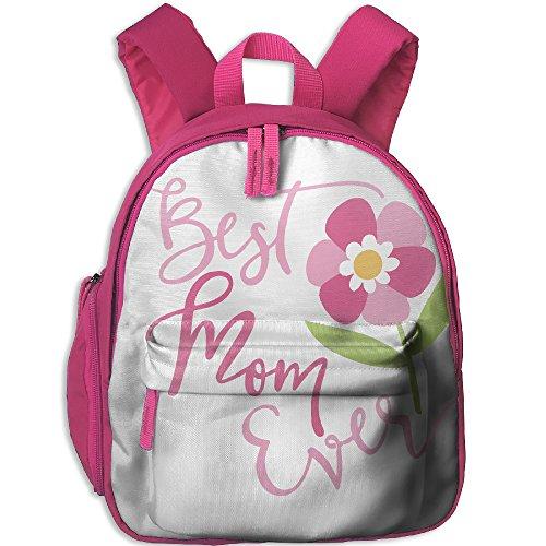 Children Pre School Backpack Boy&girl's Best MOM EVERT FLOWERS Book Bag