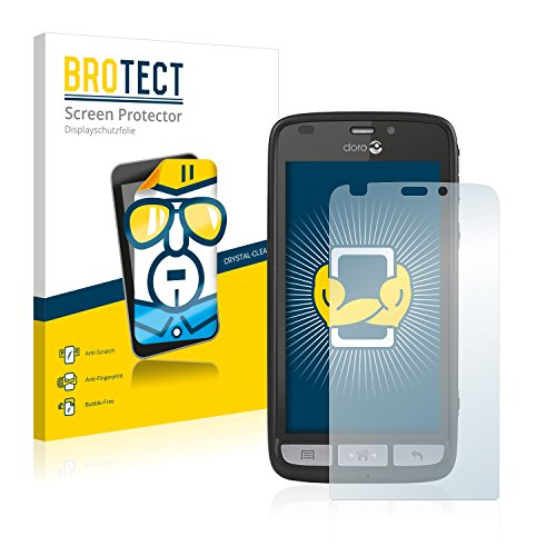 BROTECT Schutzfolie kompatibel mit Doro Liberto 820 (2 Stück) klare Bildschirmschutz-Folie