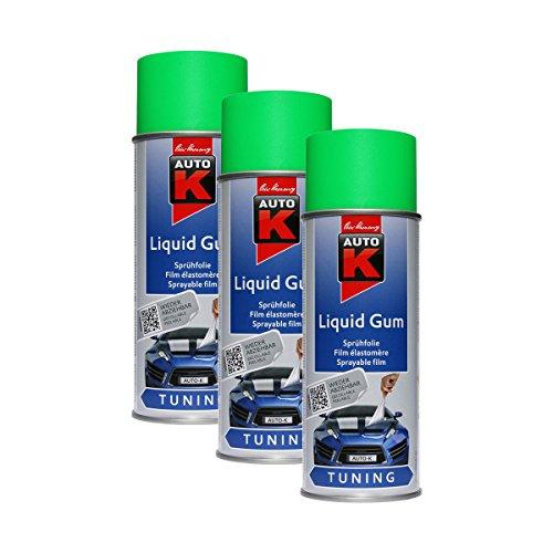3X KWASNY 233 254 Auto-K Tuning Liquid Gum Neon-Grün Lackspray 400ml