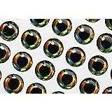 Tiglofly - Señuelos para pesca de mosca, con diseño de ojos de pez realista de 4mm, 6mm y 10mm, diseño holográfico, 6mm 207pcs
