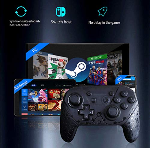 Double Vibration Game Controller, Wireless Gamepad, Joypad PC Wireless, kompatibel: Android, PC, TV/Box