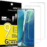 NEW'C 2 Unidades, Protector de Pantalla para Samsung Galaxy Note20, Antiarañazos, Antihuellas, Sin Burbujas, Dureza 9H, 0.33 mm Ultra Transparente, Vidrio Templado Ultra Resistente