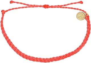 Mini Braided Bracelet - Plated Charm, Adjustable Band