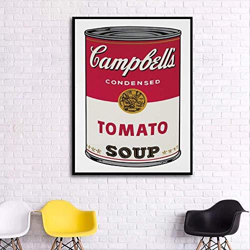 wangjingxi Pop Kunstdruck Wandmalerei Andy Warhol Tomatensuppe Abstrakte Kunst Dekorative Bild Wand Kunstdrucke Für Wohnzimmer Ungerahmt 40X60 cm