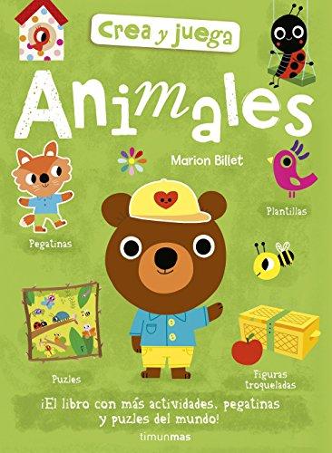 Crea y juega. Animales (Libros de actividades)