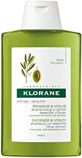 Klorane Shampoo with Olive Extract, Thicker Fuller & Stronger Hair, Antioxidant Rich, Paraben & SLS Free