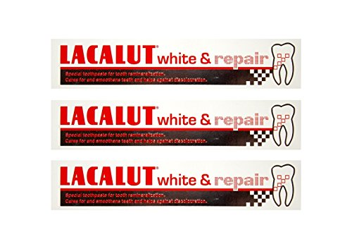 3x LACALUT white & repair Zahncreme 75 ml PZN: 04387912 Spezialzahncreme Zahnpasta