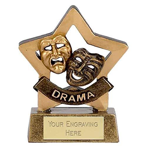 Trophies Plus Medals Mini Stars Drama Award 8cm (3 1/4')
