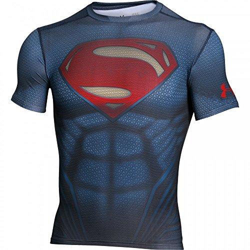 Under Armour Superman Suit Ss - midnight navy/ -/ red, Größe:XS