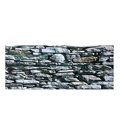 Worii Etiqueta engomada del Fondo del Acuario, Cartel del telón de Fondo Decorativo Stonewalling Pinturas de ladrillo Etiqueta engomada del PVC Decoración de la(91 * 50cm)