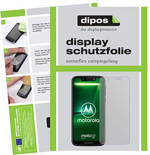 dipos I 2X Schutzfolie matt kompatibel mit Motorola Moto G7 Play Folie Bildschirmschutzfolie