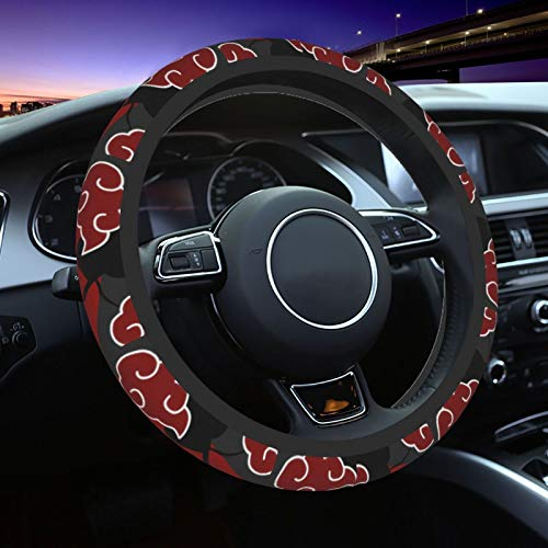 Kefeng Anime Universal Naruto Car Steering Wheel Covers Cute Cover Accessories Protective Case Anti-Slip Neoprene Fit Most Sedan, SUV (Naruto6, One Size)