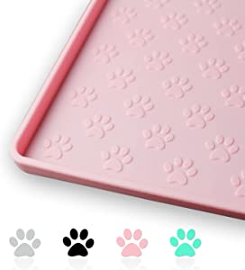 Ptlom Pet Placemat for Dog and Cat, Mat for Prevent Food and Water Overflow, Suitable for Small, Medium and Big Pet