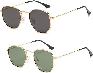 Small Square Polarized Sunglasses for Women UV Protection...