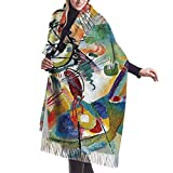 Photo de JJsister Foulards,Echarpes,Pashmina Femme Châle Wrap, Famous Abstract Fine Art Painting of Composition VII by Wassily Kandinsky Women Scarf Shawl Winter Wrap Head Scarves