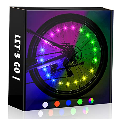 Cool Top Toys for 6-15 Year Old Boys, Water Resistant LED Bike Wheel Spoke...