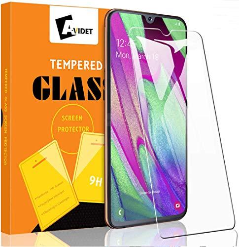 A-VIDET 3 Stück Panzerglas Schutzfolie Kompatibel mit Samsung Galaxy A40, 9H Härte Tempered Glass Screen Protector Displayschutzfolie für A40