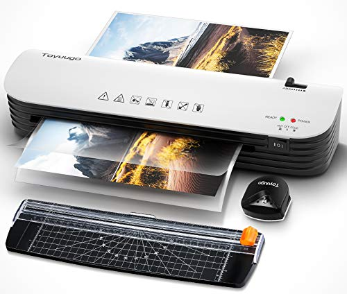Laminator, Toyuugo A4 Laminator Machine, 4 in 1 Thermal Laminator for Home Office School Use, 9 inches Max Width, Quick Warm-Up, Paper Trimmer, Corner Rounder (15 Laminating Pouches)