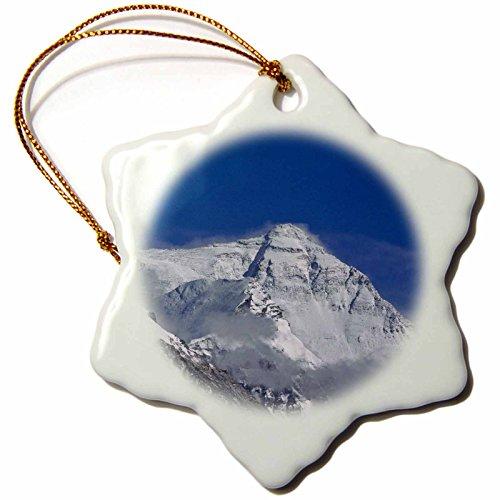 3Drose Snowy Summit of Mt. Everest, Tibet, China-AS07 KSU1324 - Keren Su - Snowflake Ornament, 3-inch (Orn_73702_1)