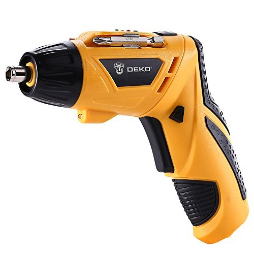 DEKO Electric Screwdriver Cordless Household 3.6 V Lithium Ion Rechargeable Power Screw Guns with LED Light Single