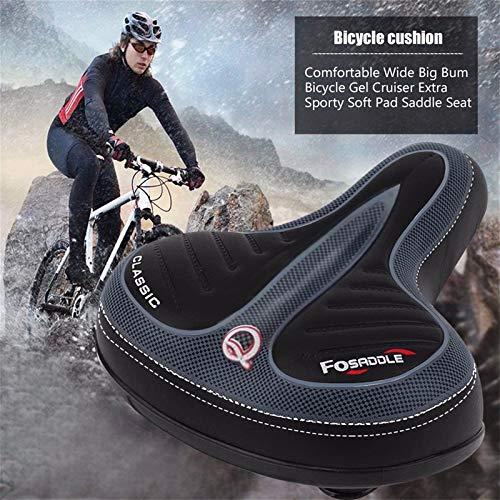 Fahrrad Stoßdämpfend Rennrad Sattel, Langsame Rebound Memory Foam Gel Fahrradsitz Memoryschaum gefüllt, Bequem Geeignet für Rennrad Mountainbike Rad Fahrradsattel (Schwarz)