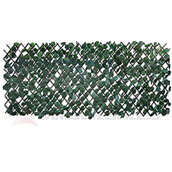 Windscreen4less Artificial Leaf Faux Ivy Expandable/Stretchable Privacy Fence Screen  Single Sided Leaves