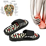 Massage Slippers with 41 Acupressure Points, 180 ° rotatable Magnetotherapy Tai Chi Massage Shoes to Reduce Foot Pain for Men and Women (42-43(White))