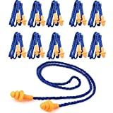 Monkeybrother Weich wiederverwendbar Silikon Gehörschutzstöpsel Ohrstöpsel mit Schnur 10 Stück