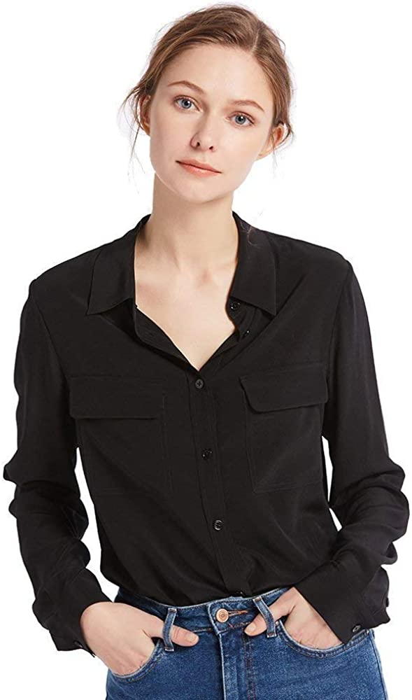 Dealing full Rare price reduction LilySilk Silk Shirts for Women 100% Sleeve 18 Ladies Long