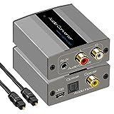 デジタル アナログ DAC 音声 コンバーター Coaxial Optical (Toslink/SPDIF)→AUX 3.5mm RCA (L/R) ステレオ オーディオ 変換 光デジタル 同軸 アナログ オーディオ サウンド 変換アダプタ PS4 Xbox HDTV DVD ヘッドホン イヤホーン対応 グレー