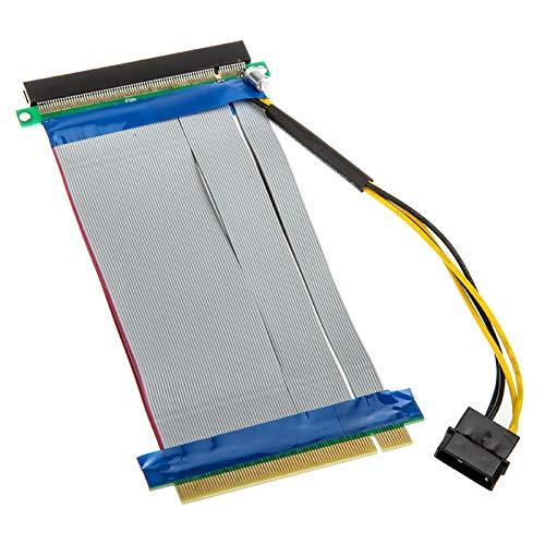KOLINK PCI Express x16 auf x16 Riser-Kabel inklusive Molex-Stromkabel, Grafikkarten Kabel, PCI-e Riser Cable PC, pcie Verlängerung, Molex Stecker, PCIe Cable, pci Kabel, Kabel Grafikkarte