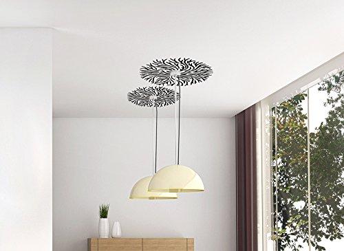 Grandora W118 Muurtattoo modern ornament voor plafondlamp (BxH) 58 x 58 cm taupe