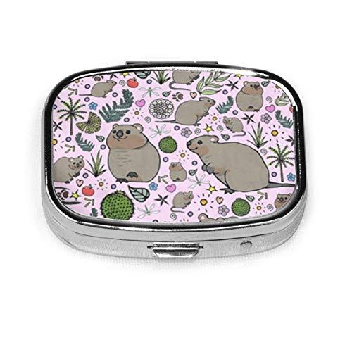 Quokka Party Benutzerdefinierte Fashion Square Pillendose Tablet Halter Tasche Geldbörse Organizer Fall Dekoration Box