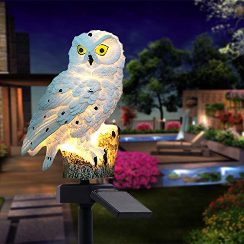 Lampe Jardin Solaire,Forme de chouette Imperméable LED Jardin Solaire Exterieur,Décoration de Jardin pour mariage, fête,pelouse, allées, clôtures,et étiquette de chien