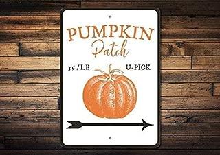 NGHF New Metal Sign Aluminum Sign Pumpkin Patch Sign Pumpkin Patch Decor Pumpkin Decor Pumpkin Gift Pumpkin Sign Pumpkin Lover Gift Fall Sign for Outdoor & Indoor 12