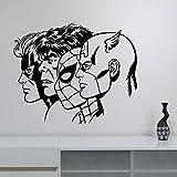 woyaofal Niños Vinilo Adhesivos de Pared Superhéroes Tatuajes de Pared Niños Niños/niñas Decoración de la habitación Capitán América Murales 57x47cm