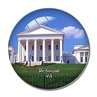リッチモンドバージニア州議会議事堂米国冷蔵庫マグネットホワイトボードマグネットオフィスキッチンデコレーション