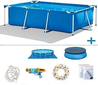 Phil Beauty Infantil Deluxe Splash Frame Pool Piscina para Patio Jardín Playa Desmontable Tubular Capacidad 3834L Buena Tenacidad Protector Solar Y A Prueba De Fugas,300x200x75cm