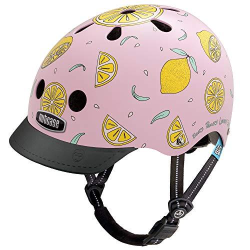 Nutcase Little Nutty Street Helmet Kinder pink Lemonade 2019 Fahrradhelm